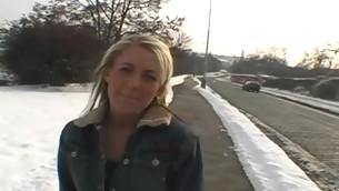tenåring blonde utendørs amatør