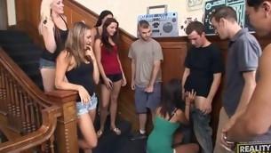 tenåring blowjob gruppe hardcore